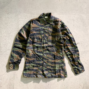 """DEADSTOCK"" US(米軍) Tiger Stripe Camouflage Utility Shirt"
