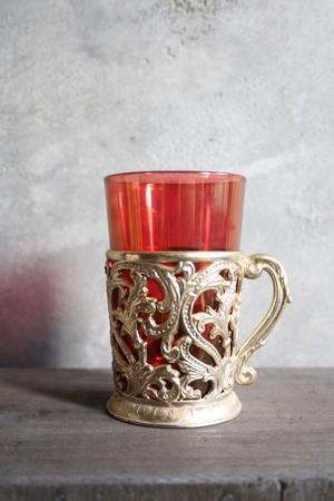 ガラスタンブラー ルビーレッドGlass tumbler Ruby Red / an-15022