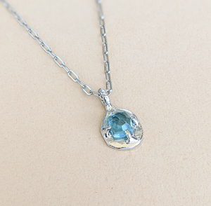 Blue Tourmaline 'STAR' Necklace