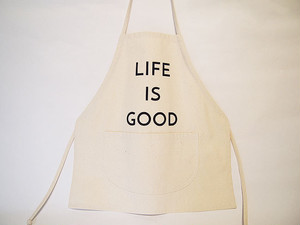 "キッズ エプロン ""KID'S APRON"" (LIFE IS GOOD)"