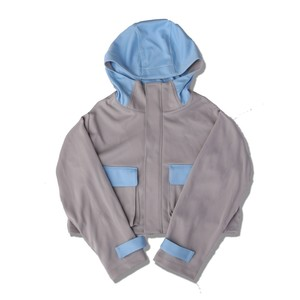 SHORT JERSEY MOUNTAIN PARKA / GRAY