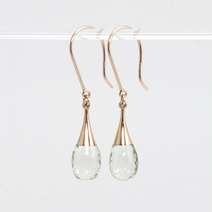 Drop earrings / Prasiolite