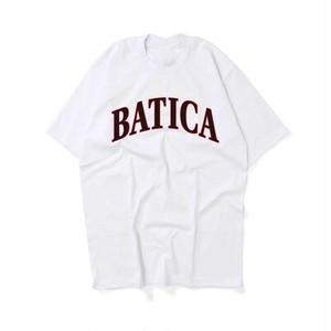 受注予約:BATICA COLLEGE LOGO T-SHIRT WHITE × BLACK
