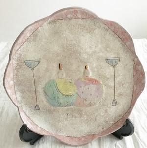 おひなさま絵皿3
