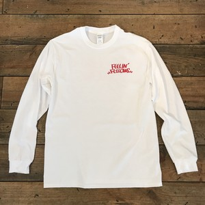 FEELIN' FELLOWS L/S TEE (WHITE x RED)