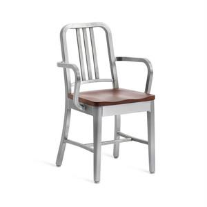 【B品/中古品/返品可能】EMECO(エメコ) NAVY ARMCHAIR WITH WOOD SEAT( ネイビーアームチェア ウィズウッドシート)ot-5
