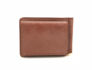RE.ACT Bridle Leather Money Clip Wallet Hazel