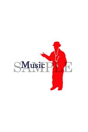 スマートフォン待ち受け画面オリジナルロゴ Music1