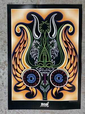 ドラゴン&アイボール ピンストライプポスター