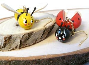 ハチとテントウムシのピアス / Biene und Marinekäfer
