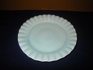 青磁輪花皿