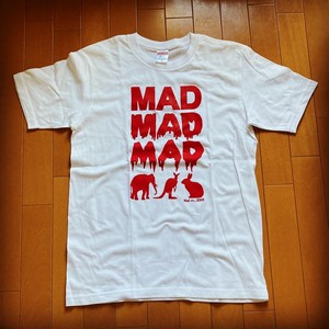 MAD ANIMAL T-Sirts Red print on white