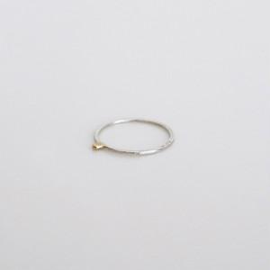 細ポチ ring / top k18gd / silver950