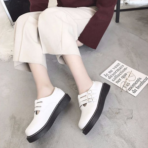 【flat-shoes】Korean style students buckle casual flat-shoes