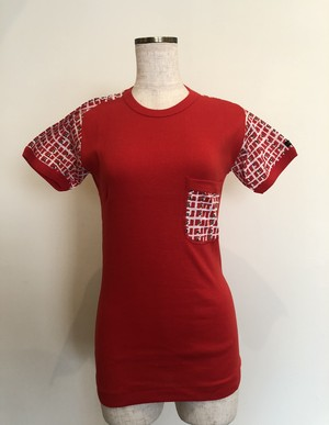 CIUFFY  vintage dead stock red cotton knit t-shirt