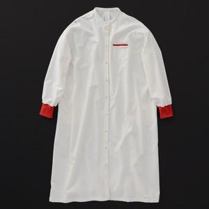 レディス スタンダード ワンピース 白×赤+P
