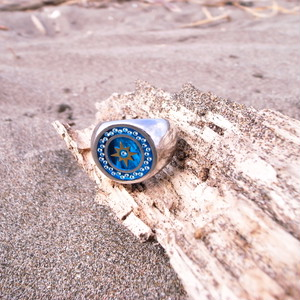 SUN MARK RING BLUE