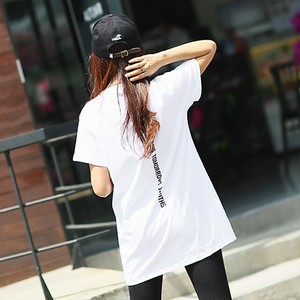 004バックプリントTシャツ トップス ロゴT カットソー rss-004