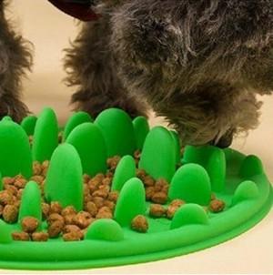 ペット 早食い 丸飲み 防止 フードボウル スローフード 防止 食器 犬 ペット用品 グリーン gdab300