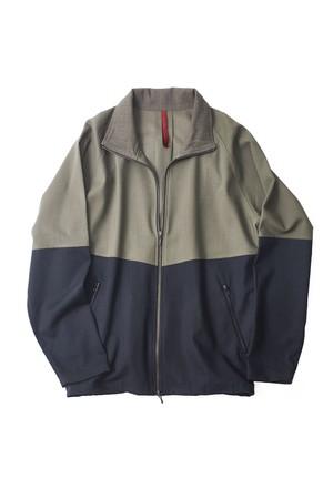 YANTOR Torowool Track Jacket (OLIVEGRAY × NAVY / size:M) [Y203JS02]