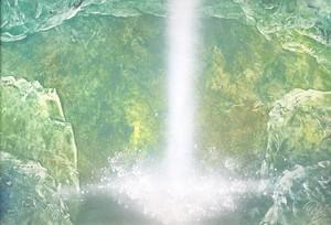 『天の岩戸の滝』岩手県にある日本有数の洞内滝。