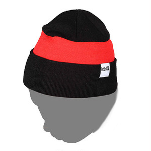 BEANIE BLK x RED (head)