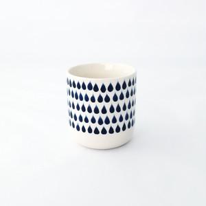 so many years(ソーメニーイヤーズ)DROP CYLINDER CUP S 湯のみ φ6.5×7cm お茶 磁器 しずく ドット柄 北欧風 ブルー ホワイト