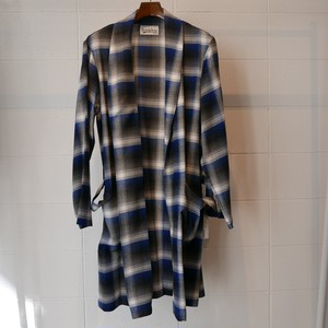 WACKOMARIA CALIFORNIA CHECK GOWN COAT