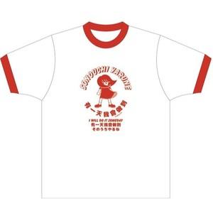 ひづめみか〜るコラボTシャツ・ホワイト×レッド
