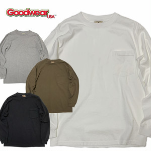 (グッドウェア)Goodwear L/S CREW NECK POCKET TEE