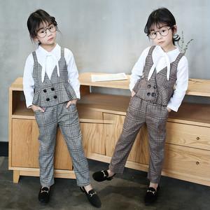 30632c83d4120  韓国子供服 子供 3点セット パンツ ヴィスチェ風ベスト 長袖シャツ セットアップ