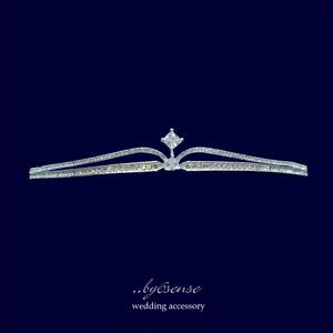 キュービックジルコニア・ウェディングティアラ〜リアンドラ〜  (tt0040)