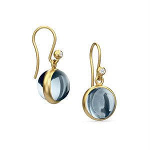 JULIE SANDLAU PRIME EARRING  ICE BLUE CRYSTAL