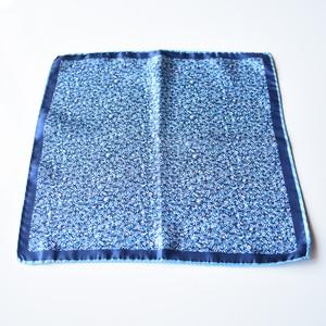 イタリア製ポケットチーフ #1 Blue Botanical
