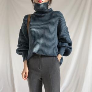【tops】大人気手触りよく無地ニットセーター
