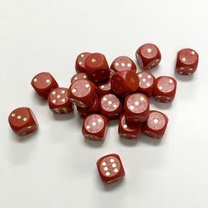 赤15mm木製ダイス(30個入り)