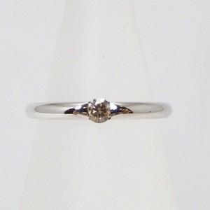 ❤︎一粒 ブラウン ダイヤモンド リング❤︎指輪