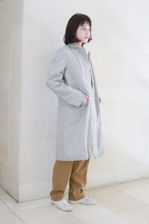 """A .Dupré """"Two style sleeve coat""""[check]"""