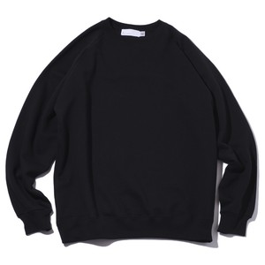 SO Original Blend Cotton Raglan Crew Neck Sweat Shirt(Black)
