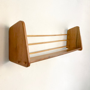 Teakwood Mini Wall Book Shelf 1960's ドイツ