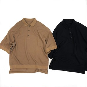 VOAAOV 【ヴォアーブ】 Seed stitch polo shirt