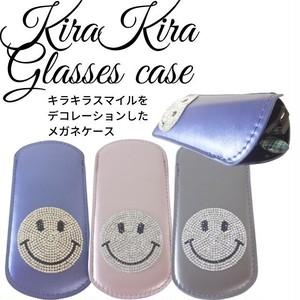 Kira Kira Glasses Case キラキラデコ眼鏡ケース プチプラ キラキラデコスマイル ニコちゃんマーク ペンケースとして使える スマイルニコちゃんメガネケース