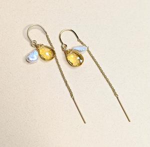 Citrine & Pearl earrings | MIHO meets RUKUS