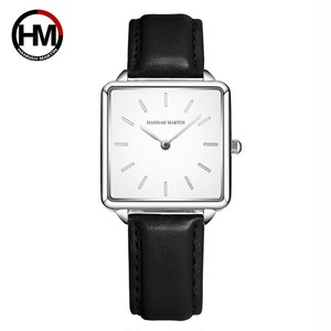 本革ストラップ日本クォーツムーブメントHM-108女性シンプルなデザインのトップの高級ブランド腕時計レディーススクエア腕時計108PH4
