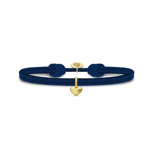 JULIE SANDLAU LOVE SATIN BRACELET  NAVY