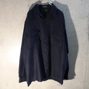 Plain Open Collar Shirt