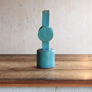 Tall Circle Top Vase / Green