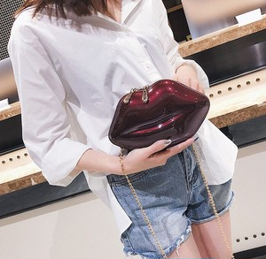 リップバッグ 韓国ファッション PVCバッグ