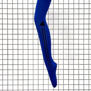 KQURIOUS オリジナルラインタイツ 青