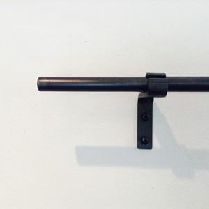 [1510mm~1760mm]13mmφ シングルアイアンカーテンレール(送料無料・部材込)